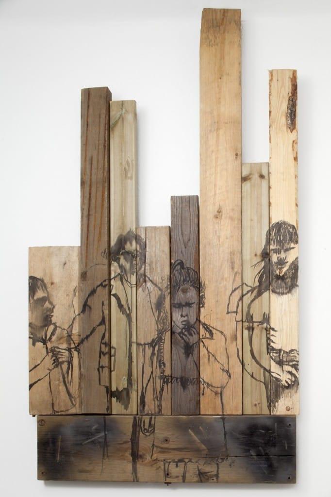 Camilla Vuorenmaa painting on wood