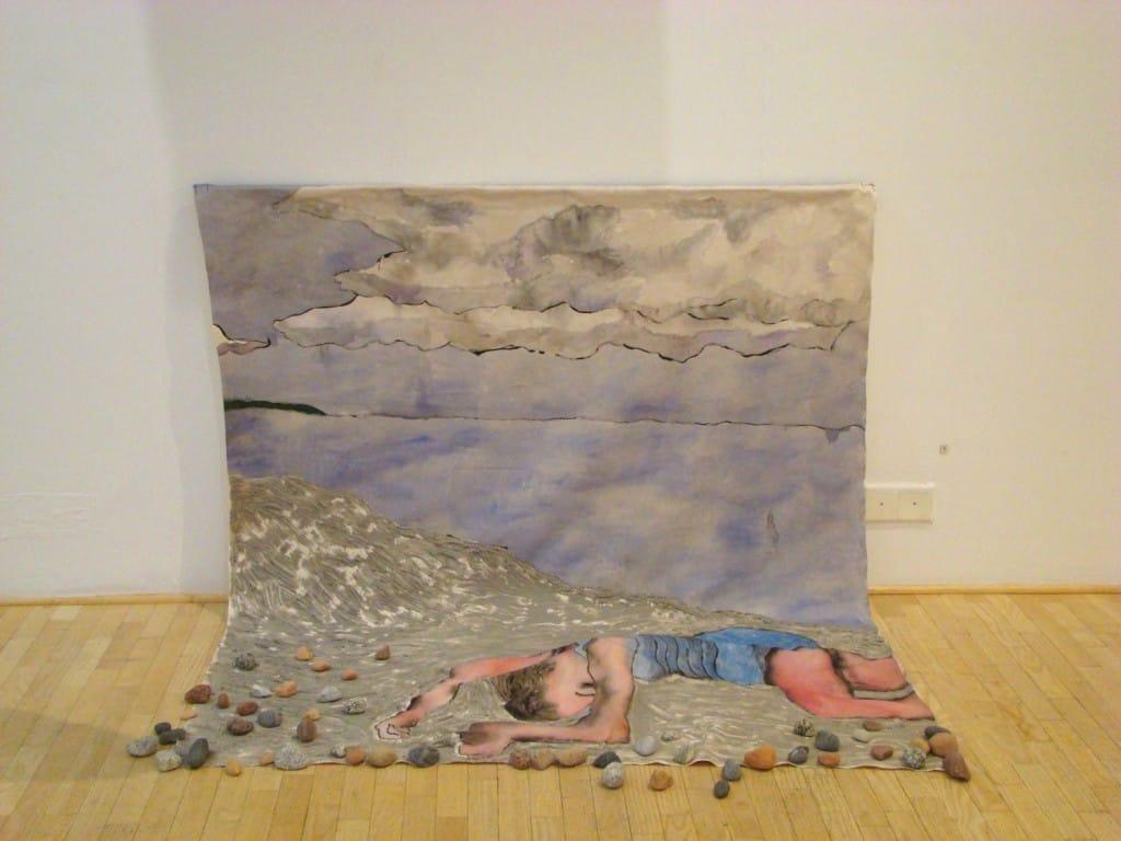 Camilla Vuorenmaa painting
