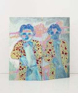 Camilla Vuorenmaa painting and carving on wood